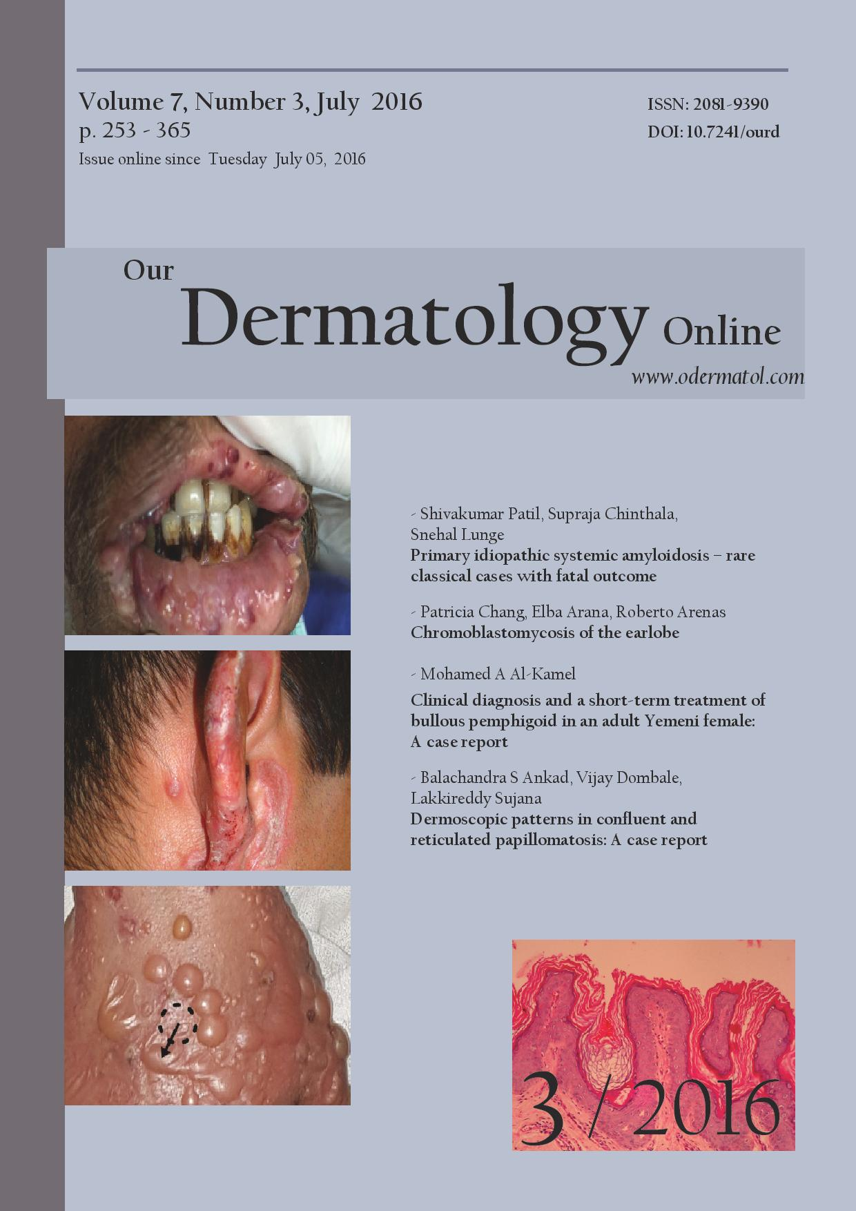 All Issues | Our Dermatology Online journal